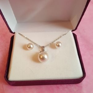 Faux Pearl NWOT Necklace and Earr…